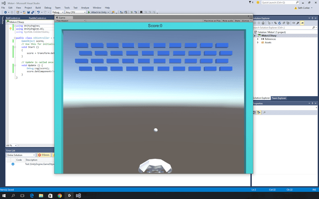 Start of the level in Unity